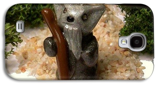 Animals Jewelry Galaxy S4 Cases - Gandalf Kitty Wizard Lord of the Rings Parody Necklace Galaxy S4 Case by Pet Serrano