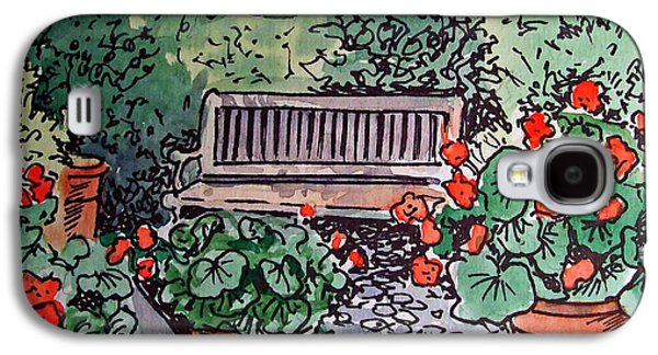 Garden Bench Sketchbook Project Down My Street Galaxy S4 Case by Irina Sztukowski