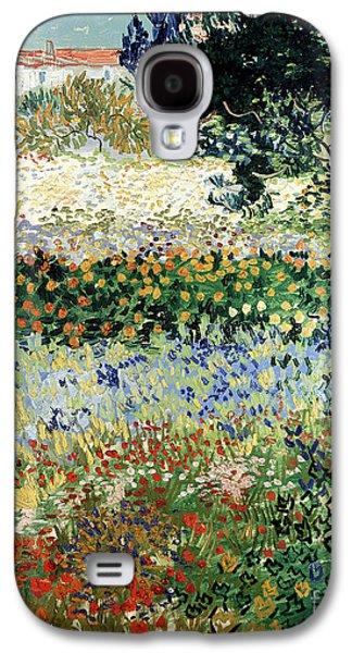 Garden In Bloom Galaxy S4 Case by Vincent Van Gogh