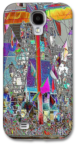 Pirate Ships Galaxy S4 Cases - Gasparilla Pirates Invade Tampa Galaxy S4 Case by Carol Groenen