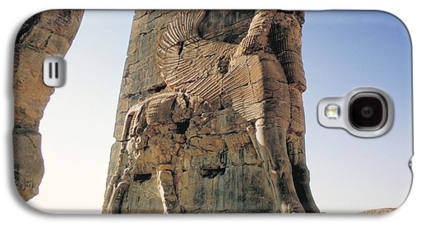 Ancient Sculptures Galaxy S4 Cases - Gate of All Nations in Persia Galaxy S4 Case by Carl Purcell
