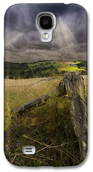 Old Fence Posts Galaxy S4 Cases - Gate to Heaven Galaxy S4 Case by Debra and Dave Vanderlaan