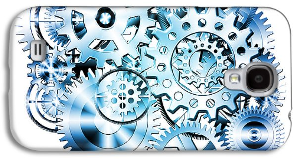 Meshed Galaxy S4 Cases - Gears Wheels Design  Galaxy S4 Case by Setsiri Silapasuwanchai