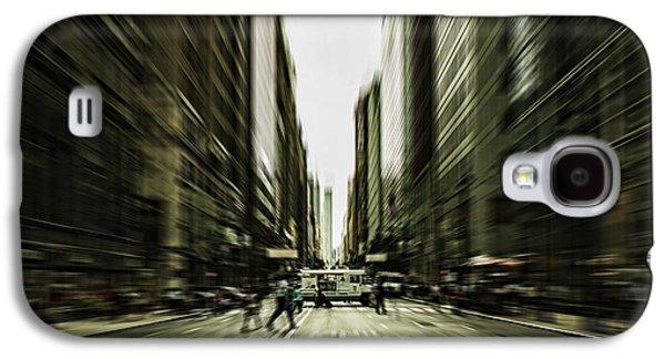 Urban Buildings Galaxy S4 Cases - Gelati Rush Galaxy S4 Case by Andrew Paranavitana