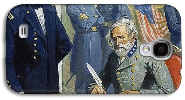 General Ulysses Grant Accepting The Surrender Of General Lee At Appomattox  Galaxy S4 Case by Severino Baraldi