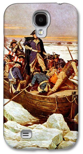 Flag Paintings Galaxy S4 Cases - General Washington Crossing The Delaware River Galaxy S4 Case by War Is Hell Store