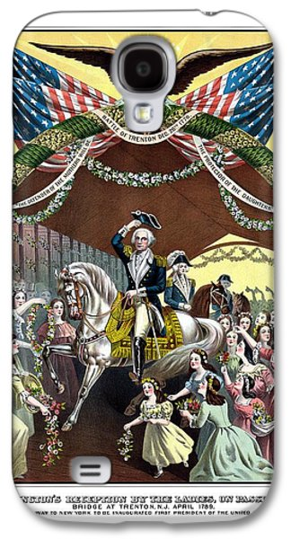 Revolutionary War Mixed Media Galaxy S4 Cases - General Washingtons Reception At Trenton Galaxy S4 Case by War Is Hell Store