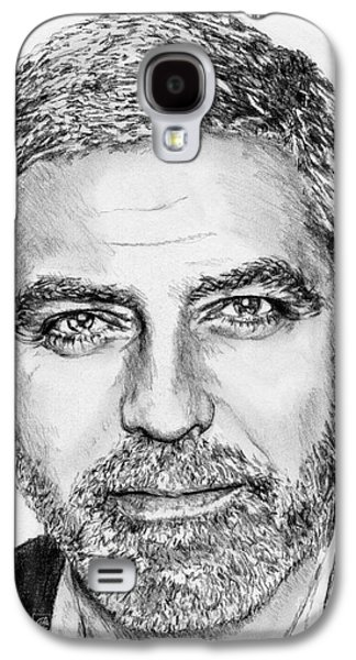 Clooney Galaxy S4 Cases - George Clooney in 2009 Galaxy S4 Case by J McCombie