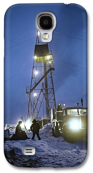 Snowy Night Night Galaxy S4 Cases - Geothermal Power Station Drilling Galaxy S4 Case by Ria Novosti