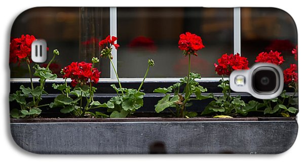Red Geraniums Galaxy S4 Cases - Geranium Flower Box Galaxy S4 Case by Doug Sturgess