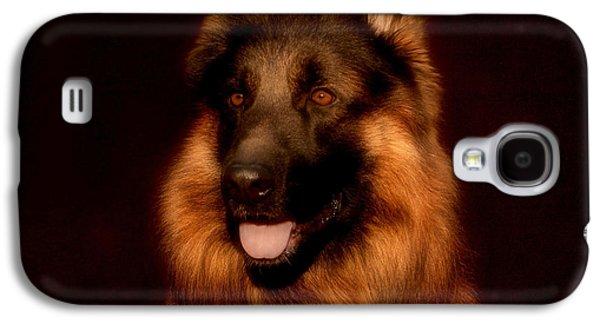 Dogs Digital Art Galaxy S4 Cases - German Shepherd Portrait Galaxy S4 Case by Sandy Keeton