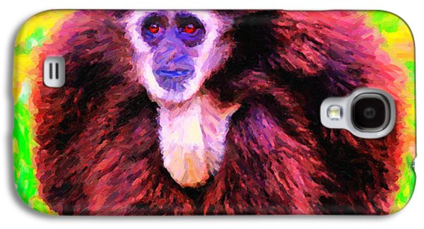 Ape Digital Art Galaxy S4 Cases - Gibbon . Photoart Galaxy S4 Case by Wingsdomain Art and Photography