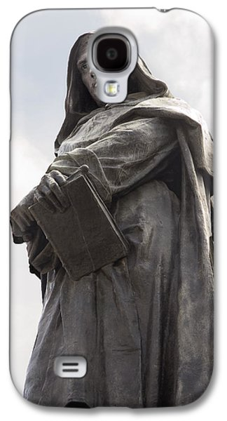 Statue Portrait Galaxy S4 Cases - Giordano Bruno, Italian Philosopher Galaxy S4 Case by Sheila Terry