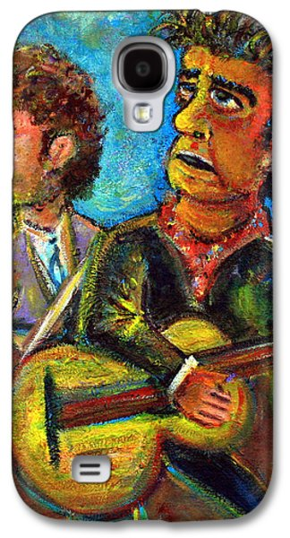 Neil Young Galaxy S4 Cases - Girl From North Country Johnny Cash and Bob Dylab Galaxy S4 Case by Jason Gluskin