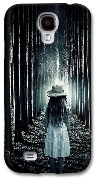 Creepy Galaxy S4 Cases - Girl In The Forest Galaxy S4 Case by Joana Kruse