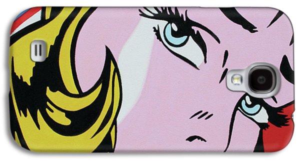 Ludzska Galaxy S4 Cases - Girl With Ribbon Galaxy S4 Case by Luis Ludzska