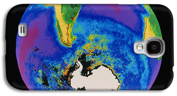 Phytoplankton Photographs Galaxy S4 Cases - Global Biosphere, Southern Hemisphere, From Space Galaxy S4 Case by Gene Feldman, Nasa Gsfc