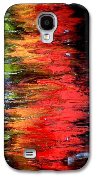 Indian Ink Mixed Media Galaxy S4 Cases - Glycerine II Galaxy S4 Case by Jane Biven