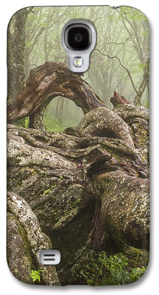 Gnarly Galaxy S4 Cases - Gnarly Old Tree in Fog Along the Blue Ridge Parkway Galaxy S4 Case by Bill Swindaman