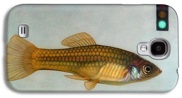 Aquarium Fish Galaxy S4 Cases - Go Fish Galaxy S4 Case by James W Johnson