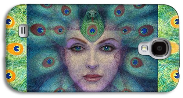 Visionary Paintings Galaxy S4 Cases - Goddess Isis Visions Galaxy S4 Case by Sue Halstenberg