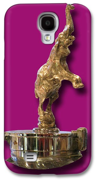 Car Mascot Digital Galaxy S4 Cases - Gold Buggatti Mascot Galaxy S4 Case by Jack Pumphrey