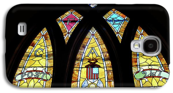Portraits Glass Art Galaxy S4 Cases - Gold Stained Glass Window Galaxy S4 Case by Thomas Woolworth