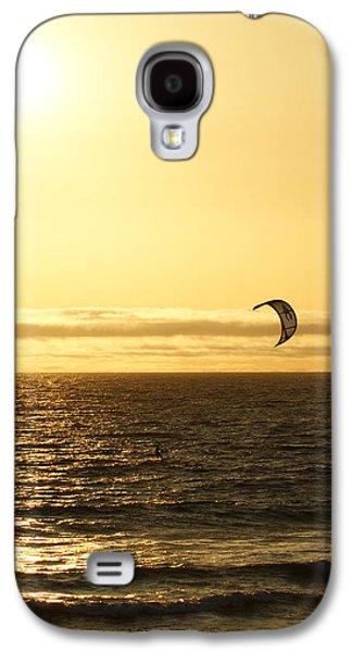 Kite Surfing Galaxy S4 Cases - Golden Day Galaxy S4 Case by Ernie Echols