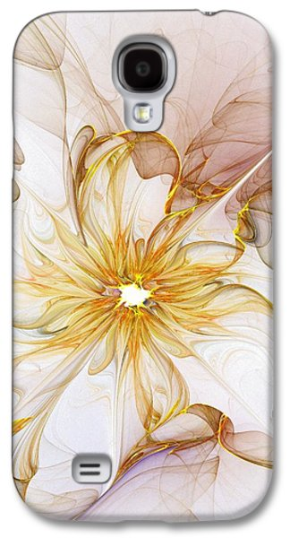 Abstract Digital Art Galaxy S4 Cases - Golden Glow Galaxy S4 Case by Amanda Moore