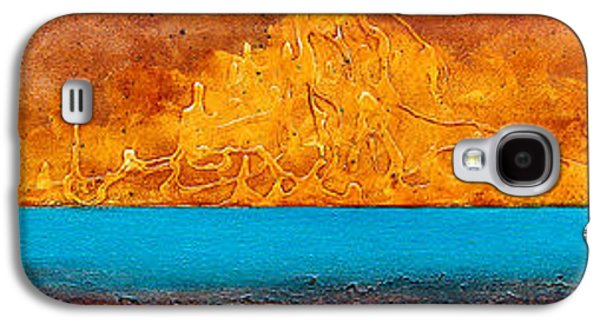 Abstract Digital Paintings Galaxy S4 Cases - Golden Island  Galaxy S4 Case by Mauro Celotti