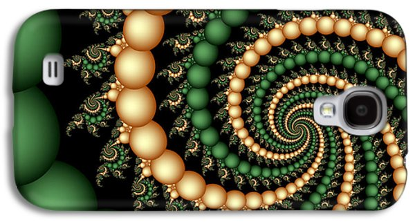 Digital Art Greeting Cards Galaxy S4 Cases - Golden Pearls Galaxy S4 Case by Sandra Bauser Digital Art