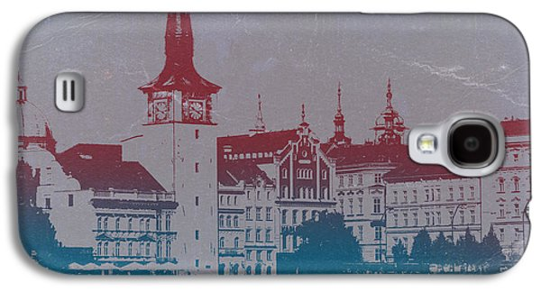 Old Town Digital Art Galaxy S4 Cases - Golden Prague Galaxy S4 Case by Naxart Studio