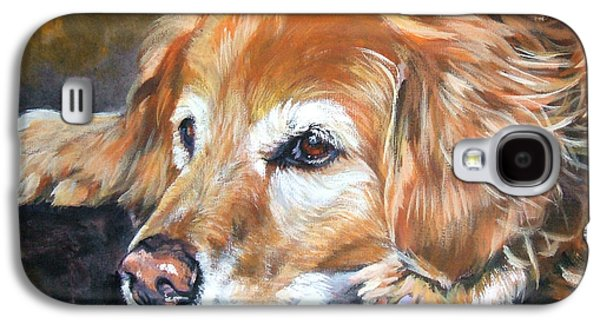 Dogs Paintings Galaxy S4 Cases - Golden Retriever Senior Galaxy S4 Case by Lee Ann Shepard