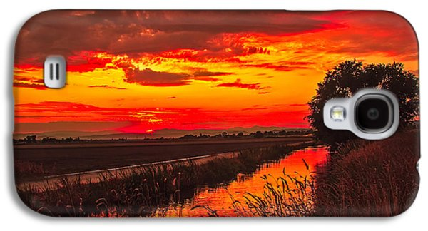 Haybale Galaxy S4 Cases - Golden Sunrise Galaxy S4 Case by Robert Bales