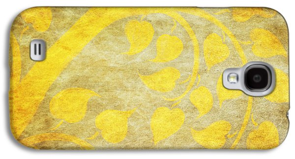 Torn Galaxy S4 Cases - Golden Tree Pattern On Paper Galaxy S4 Case by Setsiri Silapasuwanchai