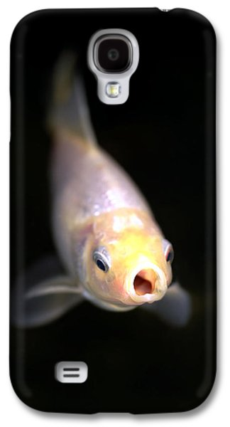 Under Water. Nature Galaxy S4 Cases - Goldfish Feeding Galaxy S4 Case by Dr Keith Wheeler