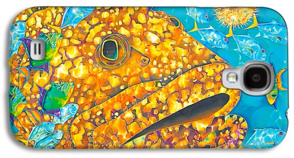 Water Grouper Print Galaxy S4 Cases - Goliath Galaxy S4 Case by Daniel Jean-Baptiste