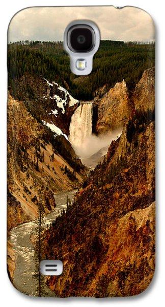 Yellowstone Digital Galaxy S4 Cases - Grand Canyon of the Yellowstone Galaxy S4 Case by Ellen Heaverlo