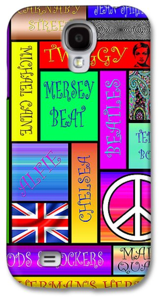 Twiggy Galaxy S4 Cases - Graphic Sixties London Galaxy S4 Case by Andrew Fare