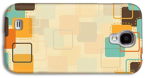 Torn Galaxy S4 Cases - Graphic Square Pattern Galaxy S4 Case by Setsiri Silapasuwanchai