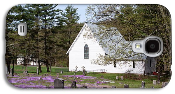 Final Resting Place Galaxy S4 Cases - Graveyard Phlox Country Church Galaxy S4 Case by John Stephens