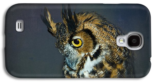 Preditor Galaxy S4 Cases - Great Horned Owl Galaxy S4 Case by Betty LaRue