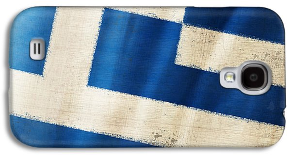 Signed Photographs Galaxy S4 Cases - Greece flag Galaxy S4 Case by Setsiri Silapasuwanchai