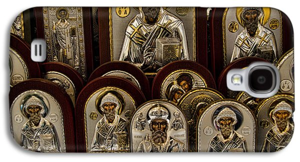 Orthodox Icon Galaxy S4 Cases - Greek Orthodox Church Icons Galaxy S4 Case by David Smith