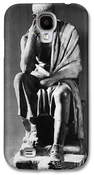 Greek Sculpture Galaxy S4 Cases - Greek Philosopher Galaxy S4 Case by Photo Researchers