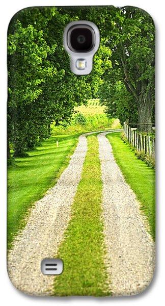 Paths Galaxy S4 Cases - Green farm road Galaxy S4 Case by Elena Elisseeva