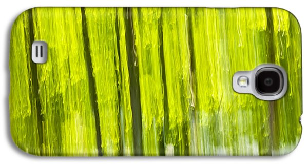Abstract Nature Photographs Galaxy S4 Cases - Green forest abstract Galaxy S4 Case by Elena Elisseeva