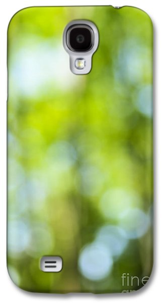 Nature Abstract Galaxy S4 Cases - Green forest and blue sky Galaxy S4 Case by Elena Elisseeva