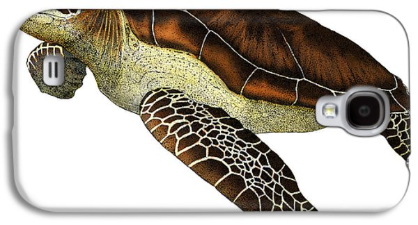 Reptiles Drawings Galaxy S4 Cases - Green Sea Turtle Galaxy S4 Case by Roger Hall and Photo Researchers