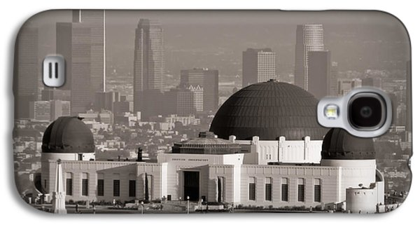 Landscapes Photographs Galaxy S4 Cases - Griffith Observatory Galaxy S4 Case by Adam Romanowicz